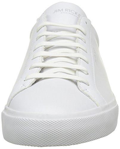 Jim Rickey Chop, Baskets Basses Homme Blanc (White/Orange)