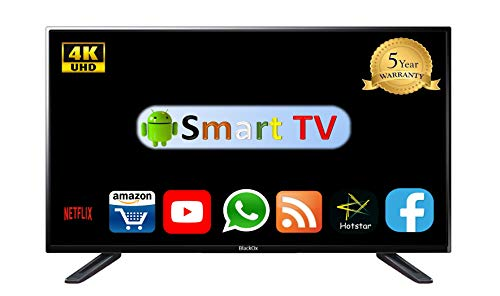BlackOx 127 cm (50 Inches) Ultra HD LED Smart Android TV 55UHD50SMT (Black) (model_year 2018)