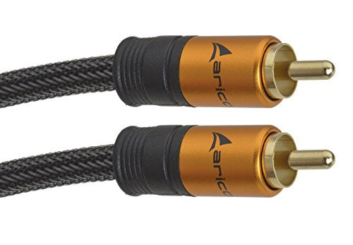 aricona Cinch auf Cinch Kabel – Digitales Koaxial und Subwooferkabel für HiFi- und Heimkino Systeme / 5 Meter