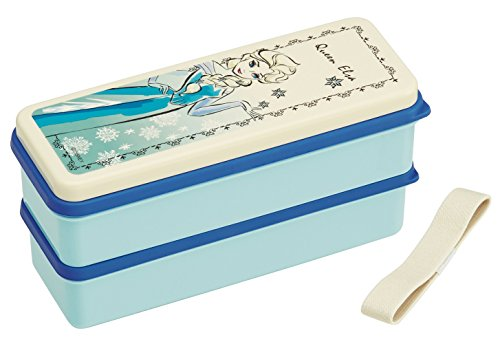 Silicon Seal Lid 2-stage Lunch Box 630ml Frozen Line Art Disney by SKATER