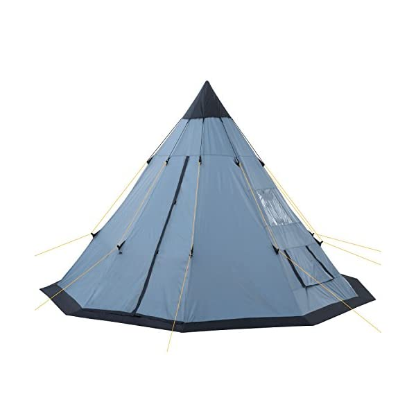 CampFeuer® - Tipi Teepee - Tent, grey/blue 2
