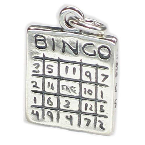 Bingo Karten zweiseitig Silber Anhänger .925 x 1 Spiele Charms dkc40426 (Spielen Bingo-spiel-karte)