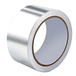 Irich – Cinta adhesiva de aluminio, cinta aislante, metalizada, resistente a altas temperaturas, (5 cm x 20 metros…