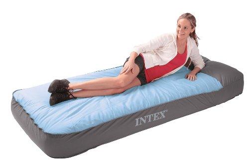 """Intex Luftbett Sleeping Bag """"Twin"""", inklusive eingebauter Luftpumpe, 91 x 193 x 25 cm (L x B x H), 230 V, 66998"""