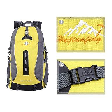 45 L Rucksack Camping & Wandern Klettern Legere Sport Jagd Reisen Radsport Schule Draußen Leistung Legere SportWasserdicht Regendicht Black