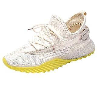 Sneaker Damen Sportschuhe Socken Schuhe Outdoor Schuhe Freizeit Slip On Bequeme Freizeitschuhe Atmungsaktiv Mesh Turnschuhe Laufschuhe Schnürschuhe (EU:40, Beige - A)