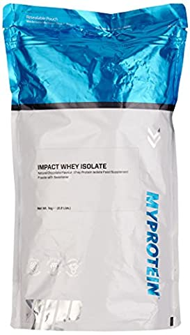 Myprotein Impact Whey Isolate Protein Natural Chocolate, 1er Pack (1 x 1 kg)