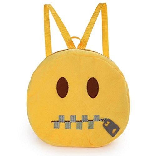 Sansee cute Emoji emoticon spalla scuola borsa zaino bambino zaino borsetta, Colour D Colour E