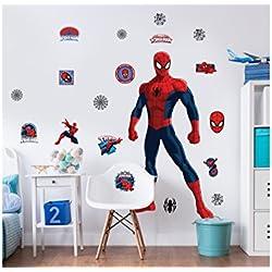 Walltastic Grande, Personaje de Marvel Ultimate Spiderman–Juego de Adhesivos de Pared
