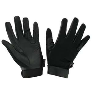 Fouganza Any Horse Riding Gloves-Stripes Black Xl