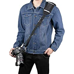 Sangle Appareil Photo, Sugelary Courroie appareils Photo Reflex pour DSLR SLR Canon Nikon Sony Olympus (F-3)