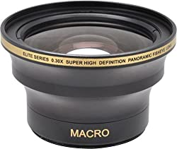 58MM & 52MM 0.30x FishEye Conversion Lens with Macro For Nikon D3100 D3200 D3300 D5000 D5100 D5200 D5300 D5500 D7000 D7100 D7200 D90 D300 D600 D610 D700 D750 D800 D810 DSLR Camera