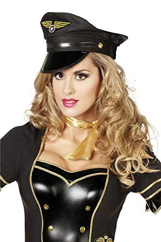 Kostüm Fliegerinnen - TH-MP Pilotenmütze schwarz