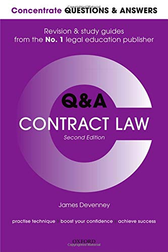 Concentrate Questions and Answers Contract Law: Law Q&A Revision and Study Guide (Concentrate Questions & Answers)
