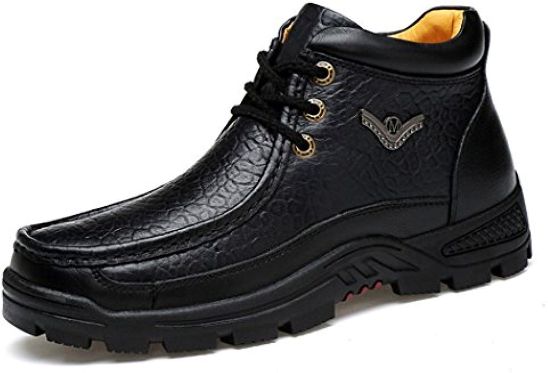ZQ@QXCaliente el utillaje a granel versión coreana de la British casual botas de hombres hombres botas, negro, 40