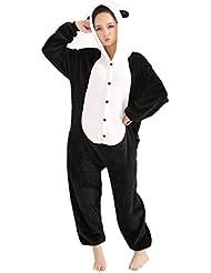 LIHAO Pijama Disfraz de Panda para Adulto Unisex, Cosplay, Carnaval (Talla:L)
