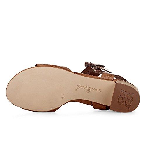 Paul Green 6085-002 Damen Sandalette Aus Feinem Glattleder Lederinnenausstattung couio