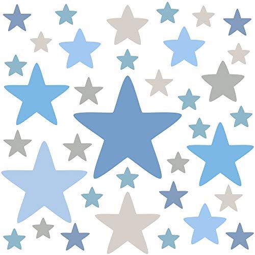 PREMYO 36 Estrellas Pegatinas Pared Infantil - Vinilos Decorativos Habitación Bebé Niños - Fácil...