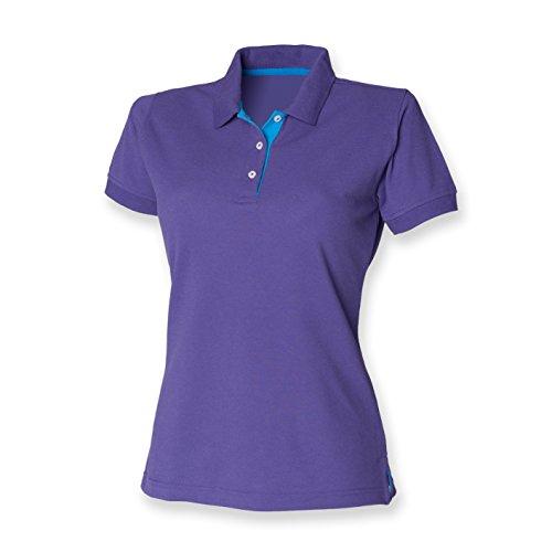 HenburyDamen Poloshirt Violett - Purple/Sapphire