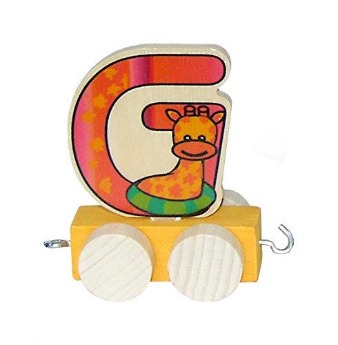 Hess Holzspielzeug 0045G Waggon für Geburtstagszug, ca. 7 cm, Buchstabe G Preisvergleich