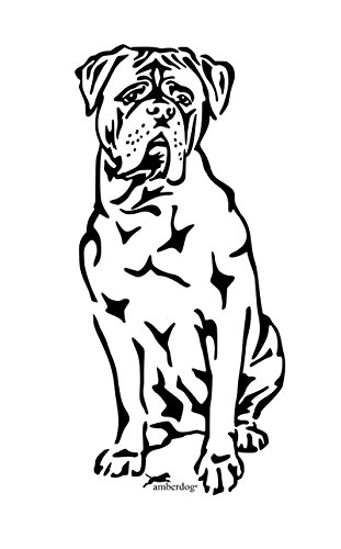 amberdog Bordeaux Dogge Art.Nr.AT0156 Aufkleber für Auto Wohnmobil Wohnwagen Autoaufkleber (50x30cm, Schwarz)
