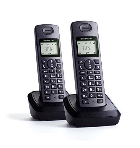 Sagemcom d1115duo-Telefono fisso, colore: nero