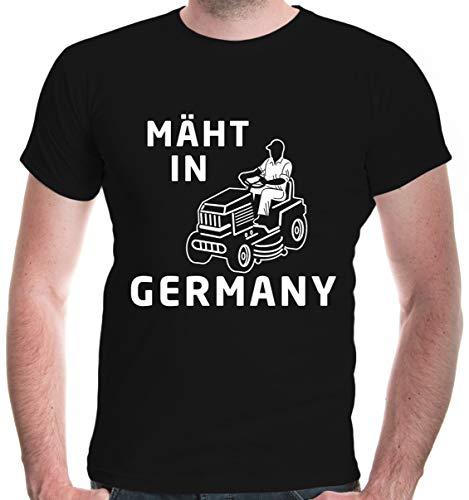 buXsbaum® Herren T-Shirt Mäht in Germany | Rasenmäher -