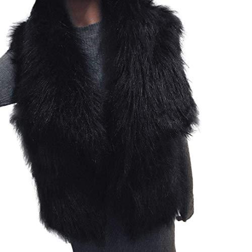 Gilet di pelliccia donna autunno invernali smanicato pelliccia sintetica ragazza giacca casual prodotto plus canottiera di pelliccia cappotto corto vita alta