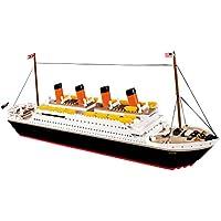 COBI- Modèle R.M.S. Titanic, 1914A, Noir, Blanc, Prismatique, Orange, Jaune