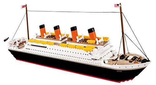 COBI 1914A R.M.S. Titanic Konstruktionsspielzeug, Schwarz/Weiß/Orange/Gelb