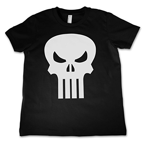 Officially Licensed Merchandise The Punisher Skull Unisex Kids T Shirts - Black 11/12 Years