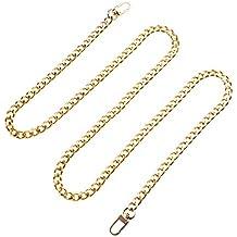 OULII DIY bolso de mano cadena de hierro bolso de mano cadenas de repuesto correas con