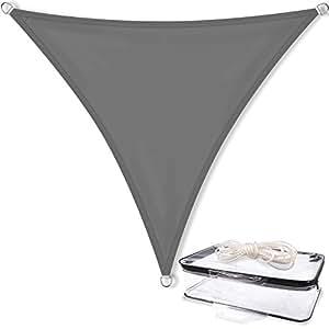 Sonnensegel Sonnenschutz Garten | UV-Schutz PES Polyester wasser-abweisend imprägniert | CelinaSun 1000261 | Dreieck 3 x 3 x 3 m anthrazit