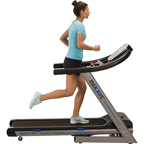 Laufband MAXXUS RunMaxx 7.3 Klappbar - Vielseitig Einsetzbare, Platzsparende Treadmill - 18km/h, Starker 3 PS DC-Motor - Großzügige Lauffläche Für Sicheres Trainingsgefühl - Ideal Für Zuhause