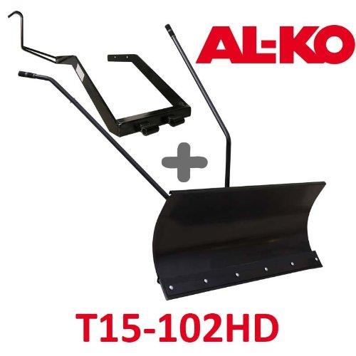 Lame à Neige 118 cm Noire + adaptateur pour AL-KO T15-102HD