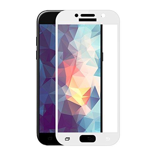 Galaxy A3 2017 Displayfolie Hartglas, Asnlove Display Folie Full-Screen Panzerfolie Kohlefaser mit 9H Härte Anti-Break Glasfolie Handy Schutzglas Schutzfolie mit Double Defense Technologie aus gehärtetem Glas für Samsung Galaxy A3 2017