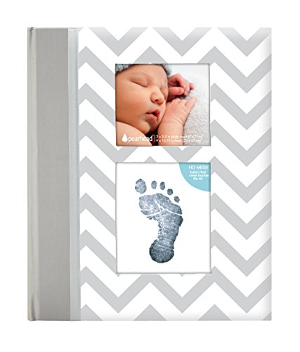 pearhead-chevron-baby-memory-book-with-an-included-clean-touch-ink-pad-to-create-babys-handprint-or-