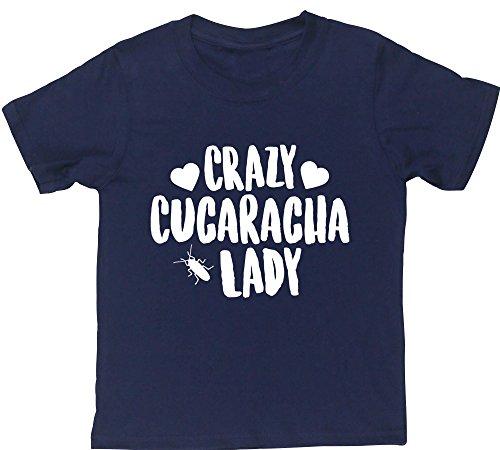 hippowarehouse-crazy-cucaracha-lady-camiseta-manga-corta-ninos-ninas-unisex