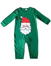 Zhhlinyuan Navidad Fiesta Ropa de Dormir Pijama por Familia - Papá Noel Ropa de Dormir de