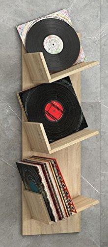 """VCM Regal Schallplatten Möbel LP Aufbwahrung Archivierung Wandregal Hängeregal Holz Sonoma-eiche 106x 33 x 26 cm """"Sulda"""""""