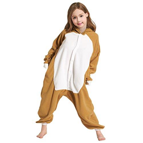 (DarkCom Unisex Kinder Pyjamas Jumpsuit Tier Karton Fasching Halloween Kostüm Sleepsuit Cosplay Tierkostüme DasFaultier (110 (Vorschlagen Höhe:102cm-110cm)))