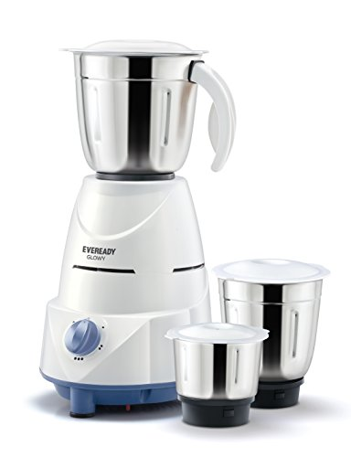 Eveready Glowy 500-Watt Mixer Grinder (White/Blue)