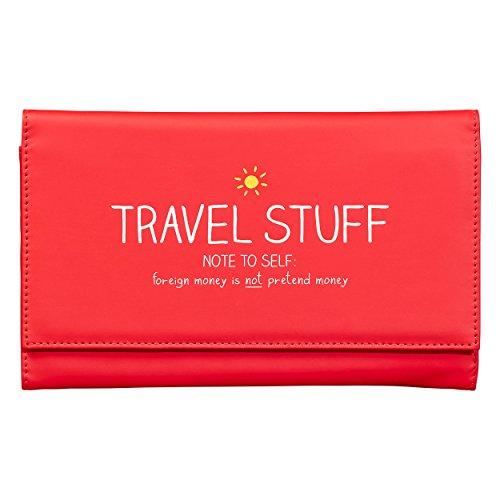 Happy Jackson 'Travel Stuff' Travel Document Holder | Matt Finish | Red