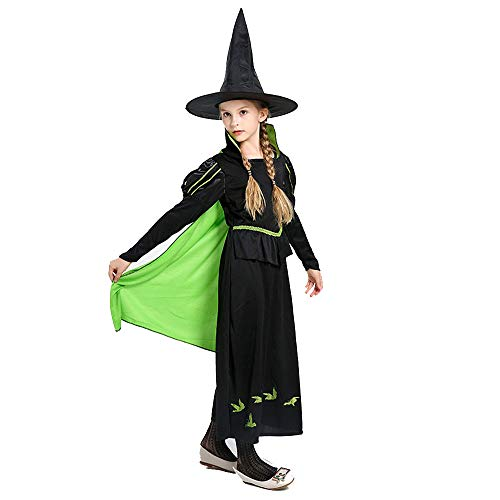 first23 Halloween Kostüme Girls 'Classic Witch Cosplay Kostüm aus dem Westen mit Mantel und - Deluxe Eis Prinzessin Kostüm