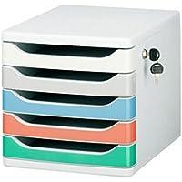 Met Love Office File Cabinet Desktop 5 Capas archivadores con Cerradura