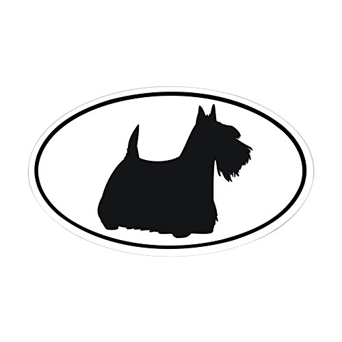 CafePress-Scottish Terrier Oval Aufkleber-oval Bumper Sticker KFZ Aufkleber, weiß, Large - 4.5x7.5