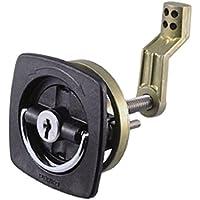 PERKO 0931DP1BLK Türschließer schwarz marine Hatch Flush Lock mit Verriegelung