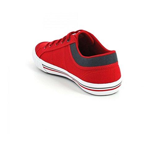 Chaussures Saint Gaetan Gs Canvas Vintage Red Jr - Le Coq Sportif Rouge
