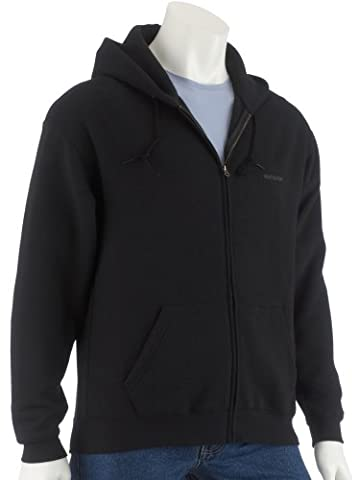 Fruit of the Loom Classic Hooded Jacket, schwarz, M