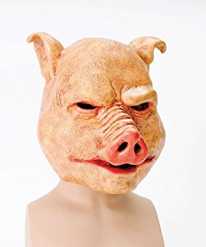 für Erwachsene Halloween Horror-Maske für Erwachsene-Überkopf-Maske aus Latex Schwein O/S (Halloween Schweine Maske)